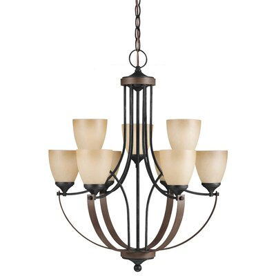 Kenna 9-Light Shaded Chandelier Bulb Type: 100W A19 Medium