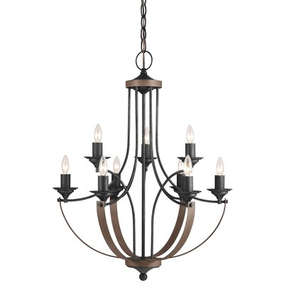 Kenna 9-Light Candle-Style Chandelier