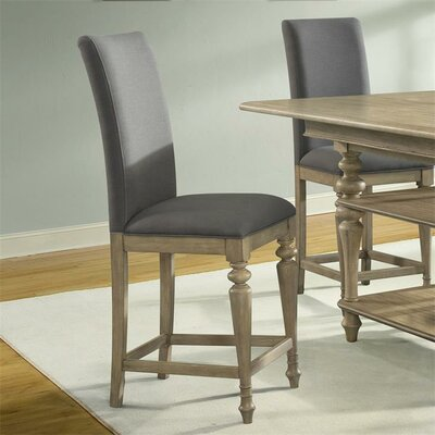 Kenwood Upholstered Counter Height Side Chair (Set of 2) Finish: Sun-drenched Acacia