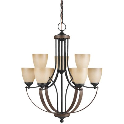 Kenna 9-Light Shaded Chandelier