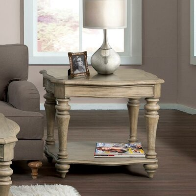 Virgouda Wood End Table Finish: Sun-drenched Acacia