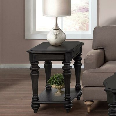 Virgouda End Table Finish: Ebonized Acacia finish
