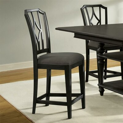 Paredes Upholstered Diamond Back Dining Chair (Set of 2) Finish: Ebonized Acacia