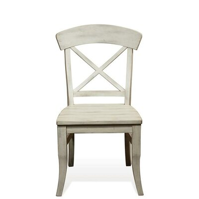 Kerry X-Back Side Chair (Set of 2) Finish: Farmhouse White
