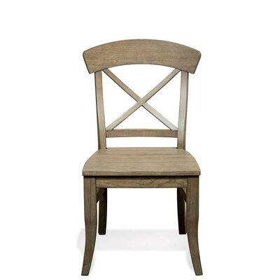 Kerry X-Back Side Chair (Set of 2) Finish: Weathered Driftwood