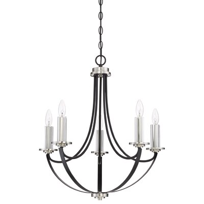 Siavash Mystic Black 5-Light Candle-Style Chandelier