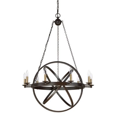 Ingalls Western Bronze 9-Light Foyer Pendant