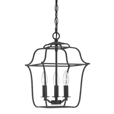 Chloe Royal Ebony Gallery 3-Light Foyer Pendant