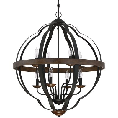 Ingrid Marcado Black Siren 8-Light Foyer Pendant