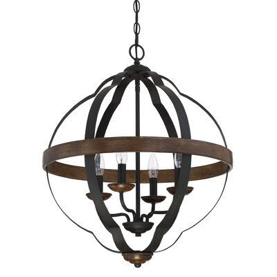 Marcado Black Siren Ingrid 4-Light Foyer Pendant