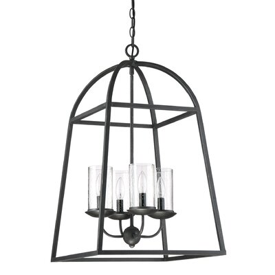 Mithun Grey Ash Gazebo 4-Light Foyer Pendant