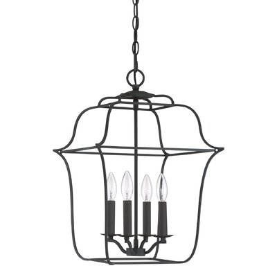 Chloe Royal Ebony Gallery 4-Light Foyer Pendant