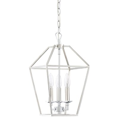 Padminie Polished Nickel 3-Light Foyer Pendant Finish: Polished Nickel