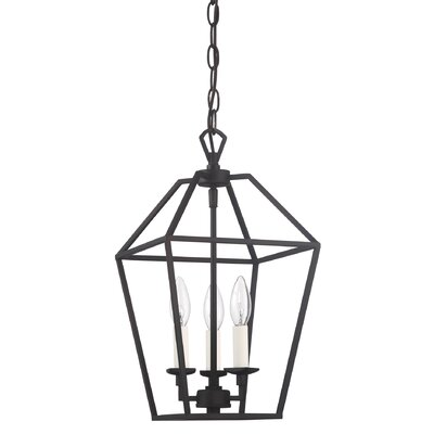 Padminie Polished Nickel 3-Light Foyer Pendant Finish: Palladian Bronze