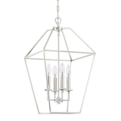 Padminie Polished Nickel 4-Light Foyer Pendant Finish: Polished Nickel