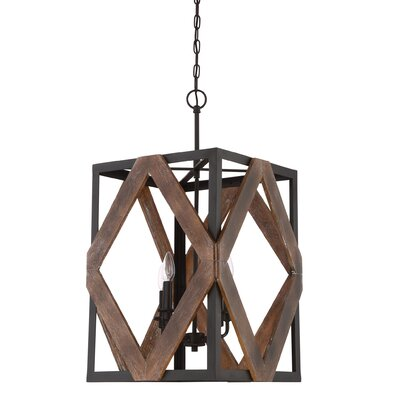Bita Western Bronze 4-Light Foyer Pendant