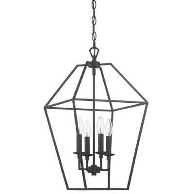 Padminie Polished Nickel 4-Light Foyer Pendant Finish: Palladian Bronze