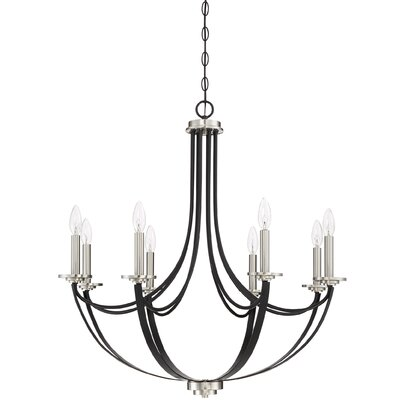 Siavash Mystic Black 8-Light Candle-Style Chandelier