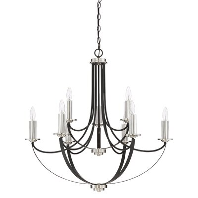 Siavash Mystic Black 9-Light Candle-Style Chandelier
