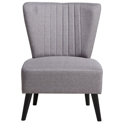 Thayer Channeled Back Slipper Chair Upholstery: Light Purple