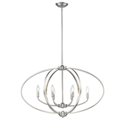 Carroll Valley 6-Light Foyer Pendant Finish: Pewter