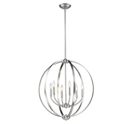 Tensed 6-Light Globe Pendant Finish: Pewter