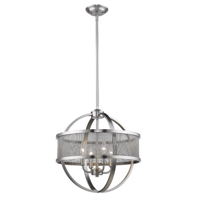Carroll Valley 4-Light Drum Pendant Finish: Pewter