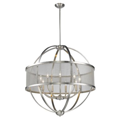 Carroll Valley 9-Light Drum Shade Foyer Pendant Finish: Pewter