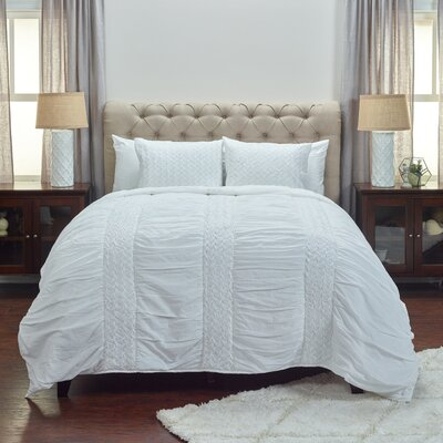 Bramwell Quilt Color: White, Size: Queen