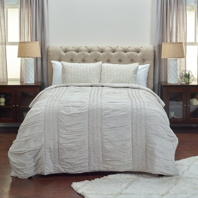 Bramwell Quilt Size: King, Color: Natural