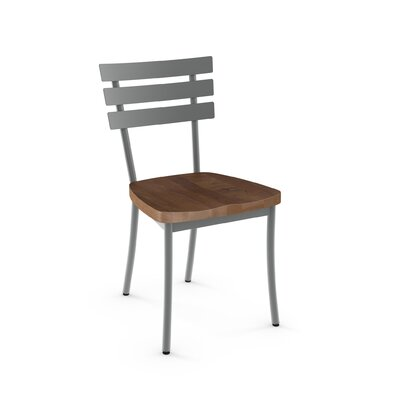 Glenham Solid Wood Dining Chair Finish: Gray/Brown