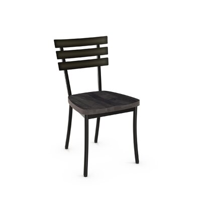 Glenham Solid Wood Dining Chair Finish: Black/Gray
