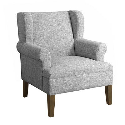 Gargilesse Emerson Arm Chair Finish: Gray Washed / Marbled Gray