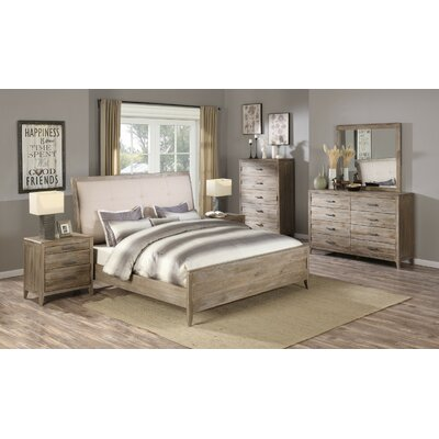 Lindzee Upholstered Panel Bed