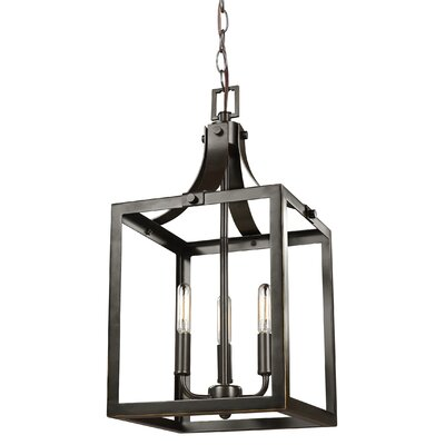 Sherri-Ann 60W 3-Light Metal Foyer Pendant Finish: Heirloom Bronze
