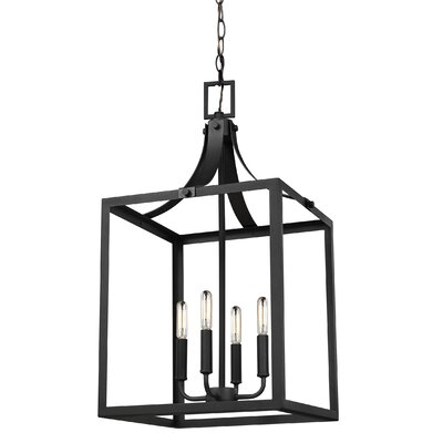 Sherri-Ann 4-Light Foyer Pendant Finish: Black