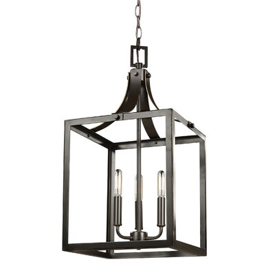 Sherri-Ann 3-Light Foyer Pendant Finish: Heirloom Bronze