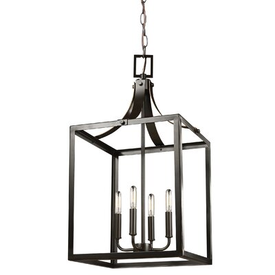 Garrett 60W 4-Light Foyer Pendant Finish: Heirloom Bronze