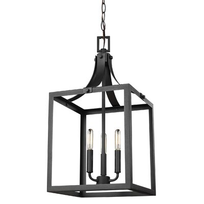 Sherri-Ann 60W 3-Light Foyer Pendant Finish: Black
