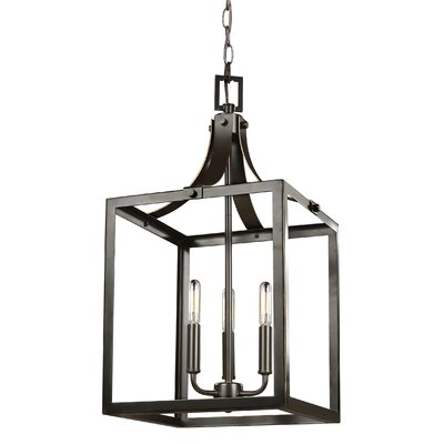 Sherri-Ann 60W 3-Light Foyer Pendant Finish: Heirloom Bronze
