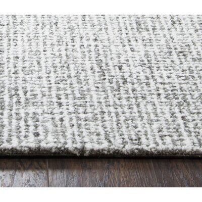 Marsh Hand-Tufted Wool Gray Area Rug Rug Size: 3 x 5