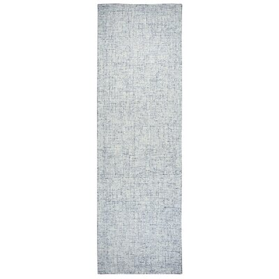 Marsh Hand-Tufted Wool Blue Area Rug Rug Size: Runner 26 x 10