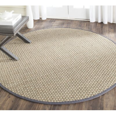 Loganton Brown/Gray Area Rug Rug Size: Round 8