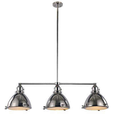 Dewey 3-Light Kitchen Island Pendant Finish: Polished Nickel