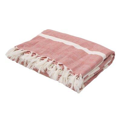 Gattilier Essential Handloom Modern Throw Blanket Color: Red