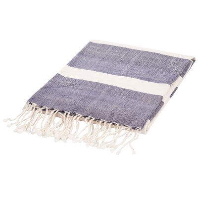 Gattilier Essential Handloom Modern Throw Blanket Color: Blue