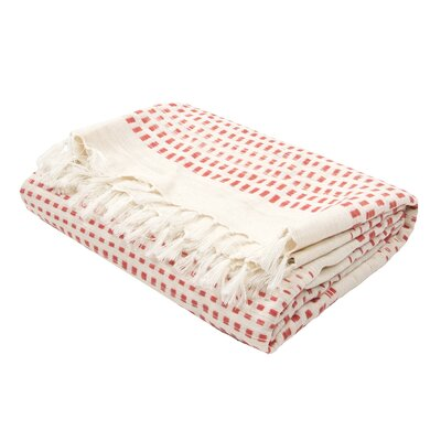 Gattilier Essential Handloom Modern Throw Blanket Color: Red