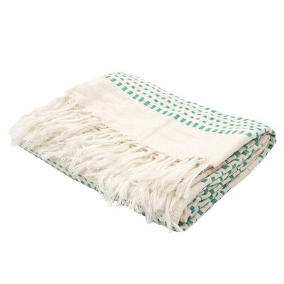 Gattilier Essential Handloom Modern Throw Blanket Color: Green