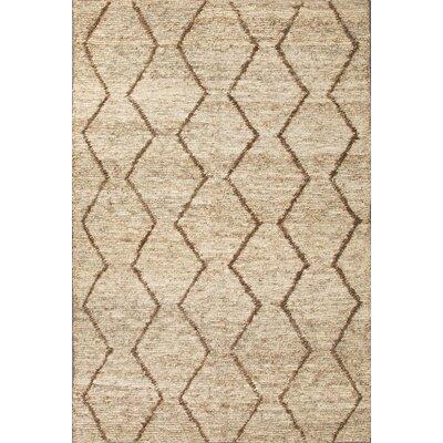 Gautier Ivory/Brown Area Rug Rug Size: 2 x 3
