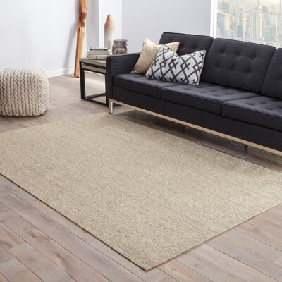 Alaska Light Brown Area Rug Rug Size: Rectangle 9 x 12